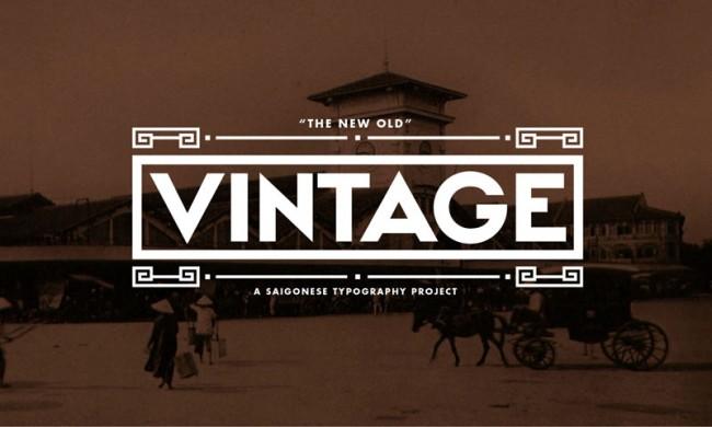Bei seinen Displayfonts hat sich Giang Nguyen von alten Ladenschildern und Beschriftungen im öffentlichen Raum Hanois inspirieren lassen