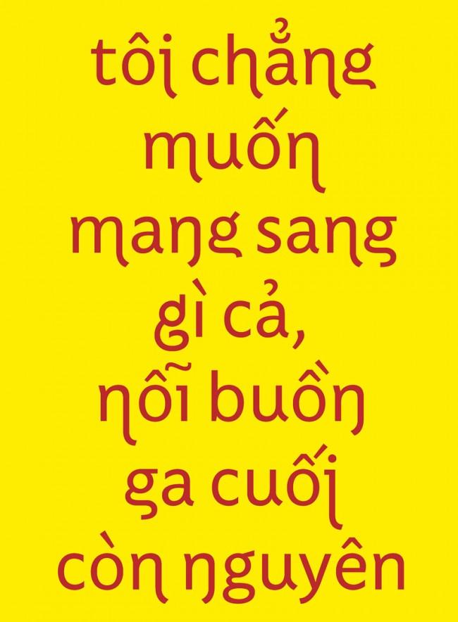 Đam Ca Pham entwickelte den für die Bedürfnisse des Vietnamesischen optimierten Font Cadao während seines Studiums in Amiens. Aktuell experimentiert er in Hanoi an einer in den Glyphenformen noch weitergehenden Sans Serif