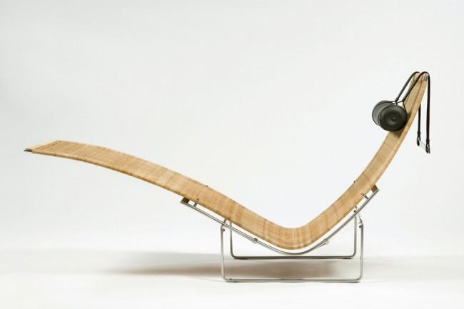 Poul Kjaerholm: PK 24 chaise lounge, Denmark 1965