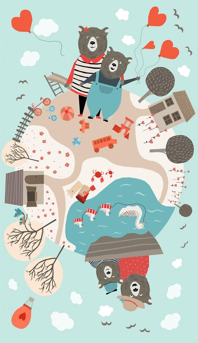 Wende-Illustration für »Saraiva Almanaque Brazil« im Auftrag von ps.2 arquitetura + design