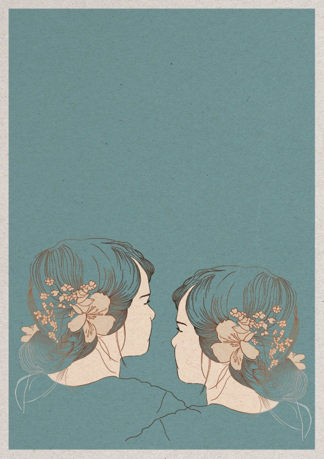 Illustration zum Lied »Lilien zur Überfahrt« der Band »Bender & Schillinger«