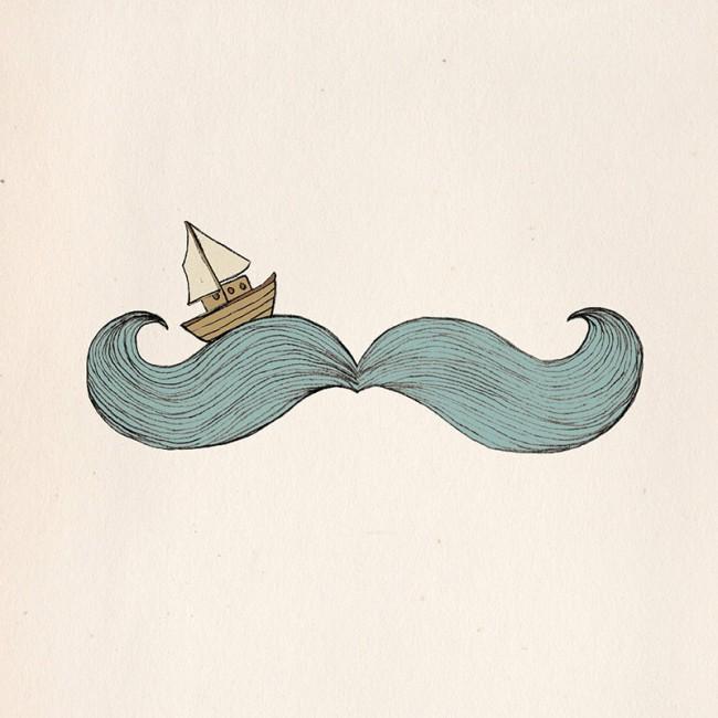»Bon Voyage Monsieur Mustache«
