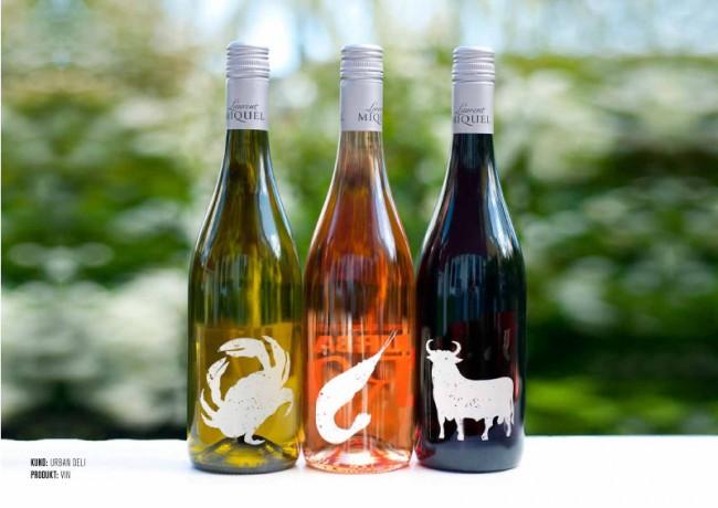 Urban Deli Wine bottles