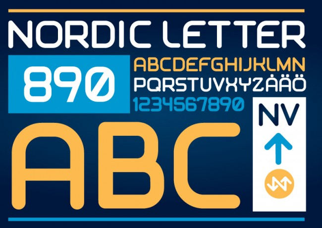 Nordic Vehicle Typeface Nordic Letter
