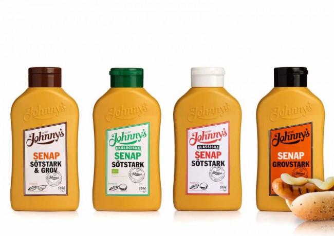 Johnnys Mustard Packaging