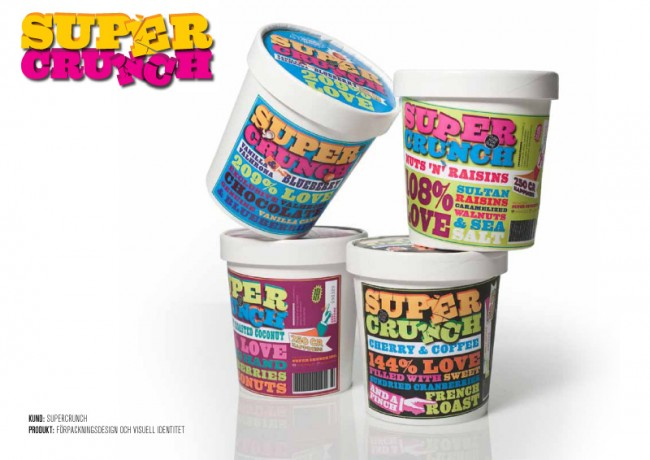 Supercrunch Müsli Logotype / Packaging Design