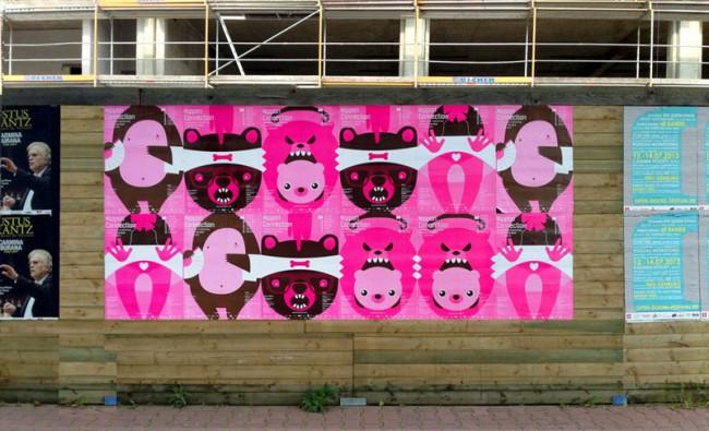 Plakate für das Filmfestival Nippon Connection 2013 – Illustration: Fabia Pospischil