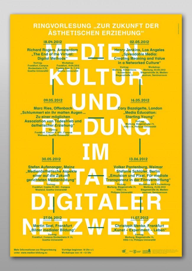 Poster für Kampagne – Medienkultur und Bildung im Zeitalter digitaler Netzwerke