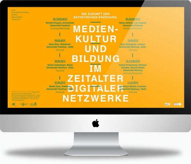 Website für Kampagne – Medienkultur und Bildung im Zeitalter digitaler  Netzwerke