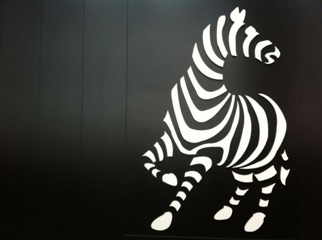 Zebra als Logo: Jacques Britt