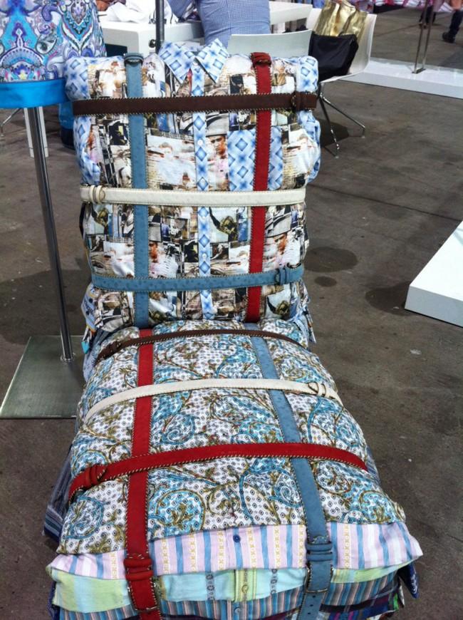 Sessel aus Hemden bei Robert Graham