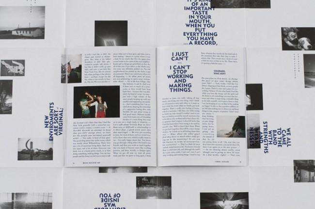 Auf mehreren Ebenen und an ihren Schnittstellen agieren Poster und Heft miteinander und gestalten den Kosmos Chris Taylors'