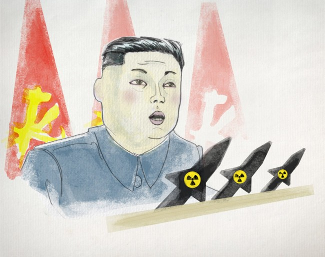 KOREA-KONFLIKT Kim Jong Un droht Washington nun offiziell mit einem Atomschlag.
