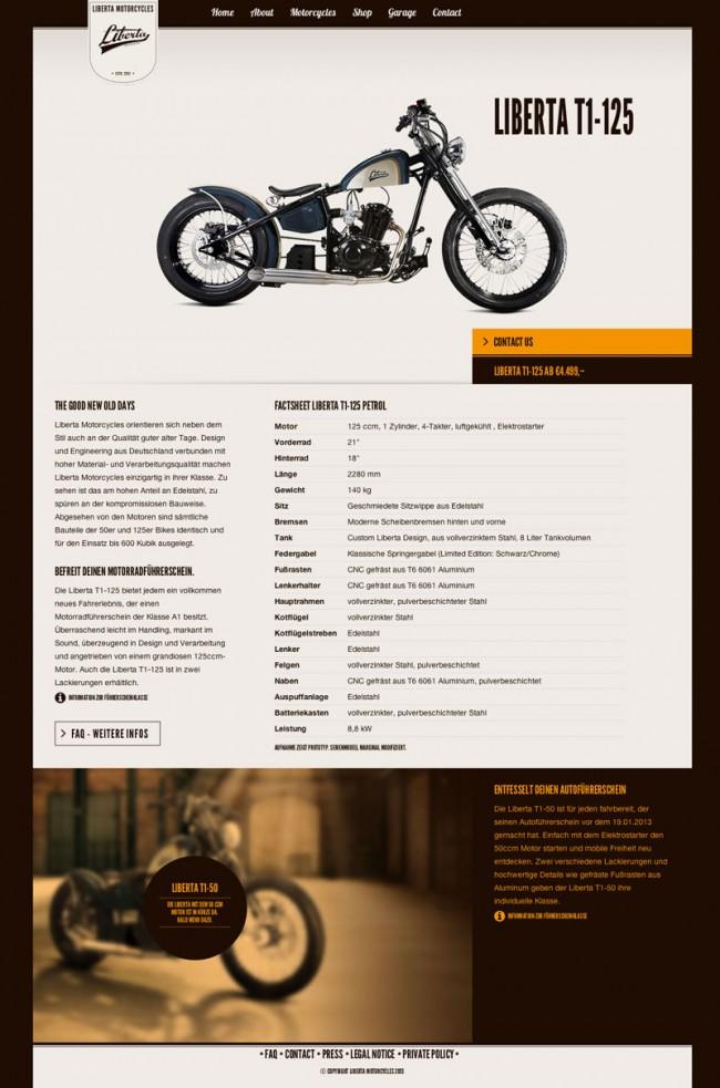 Website »Motorcycles«