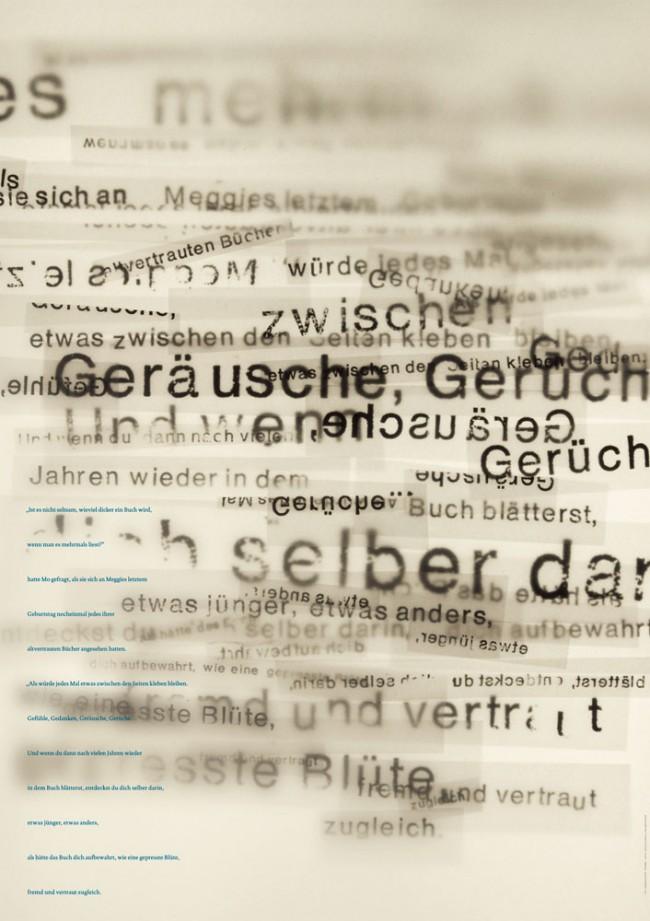 Typografische Plakatreihe zu literarischen Texten mit dem übergeordneten Thema Lesen und Bücher. Für dieses Plakat habe ich ein Zitat von Cornelia Funke aus »Tintenblut« verwendet.