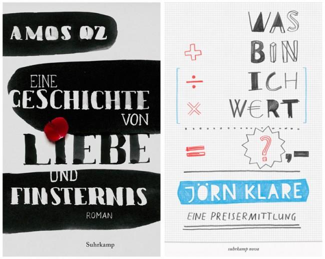 Entwürfe für einen Buchcover-Wettbewerb von Suhrkamp, 2012