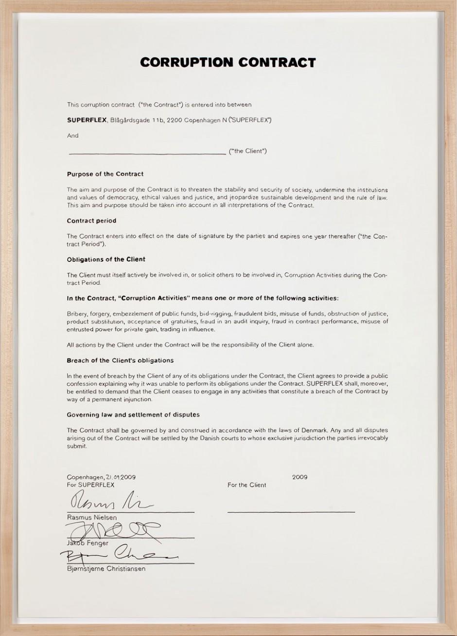 Corruption Contract