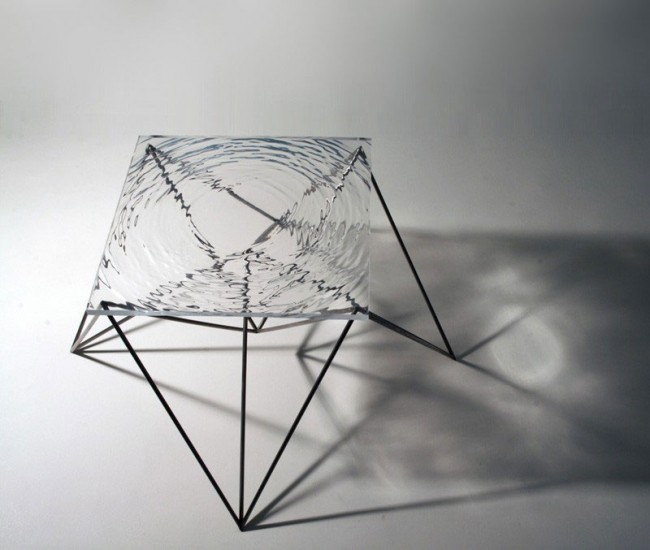 Wave Table Double Pyramid
