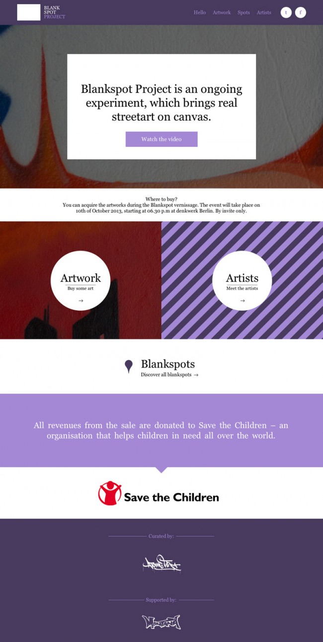 Blankspot Project | Homepage