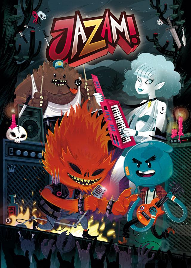 Jazam! – Cover für die  7. Ausgabe der deutschen Comic-Antholigy Jazam! Thema: Die vier Elemente. 2012