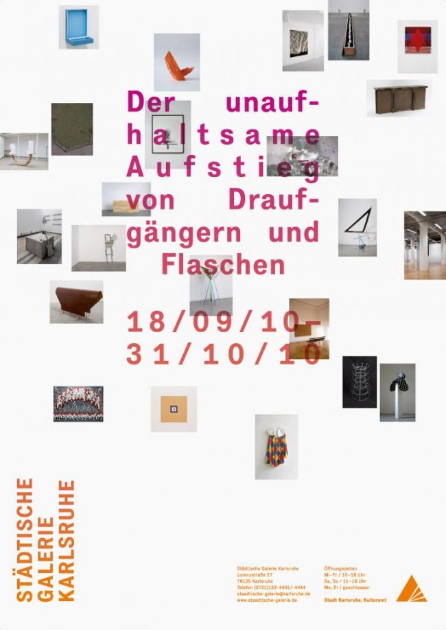 Erscheinungsbild einer Ausstellung in der Städtischen Galerie Karlsruhe, Plakat