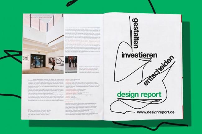 Anzeigenkonzept für die Fachzeitschrift »design report«
