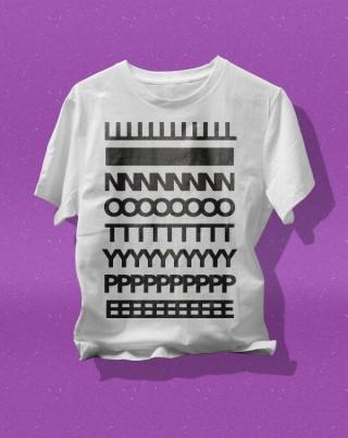 Branding, T-Shirt Design für »Linotype«