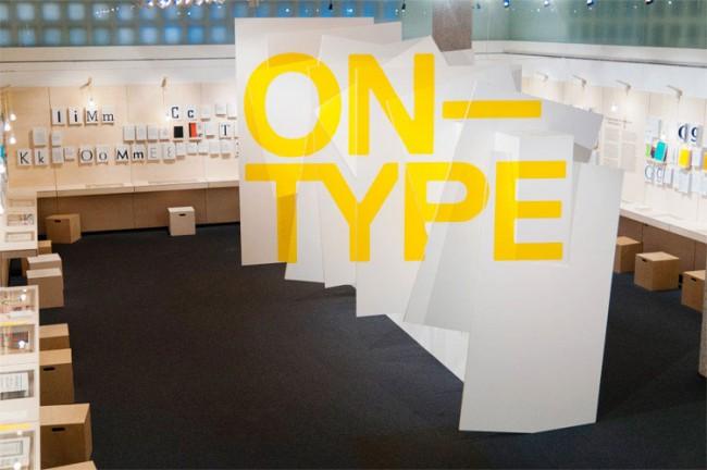 Ausstellungsgestaltung »ON–TYPE: Texte zur Typografie« im Gutenberg-Museum Mainz