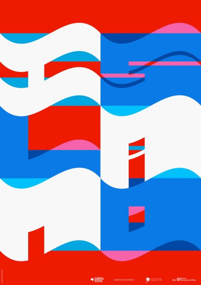 Wettbewerbsbeitrag zur Buchmesse Frankfurt, Plakat »Island«