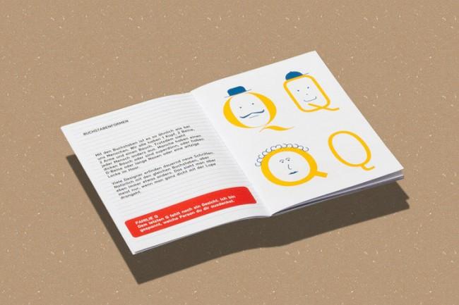 Publikation für Kinder, »Typo Pass«, Doppelseite