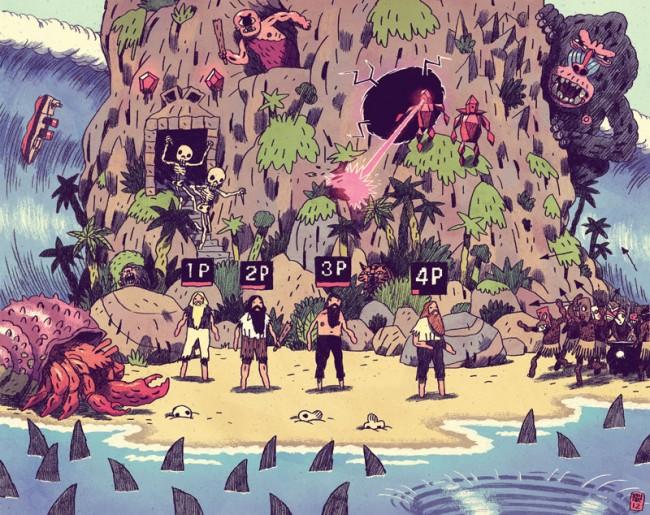 Mikkel Sommer ist einer der Illustratoren bei der Ultimate Desaster Show von Rotopol