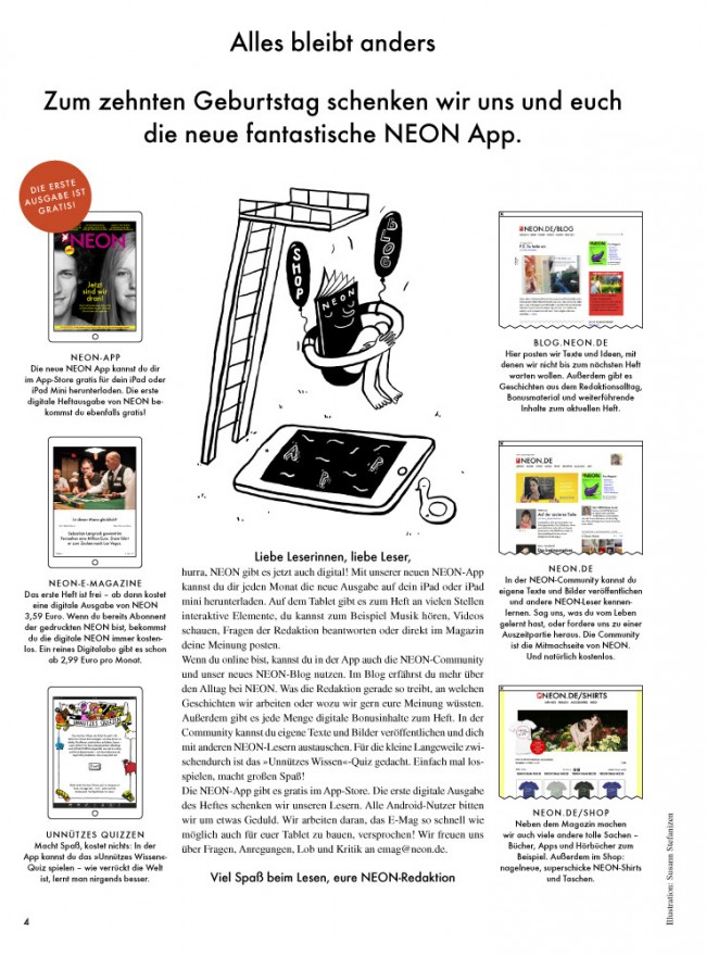 »Neon« Oktober 2013, Printausgabe