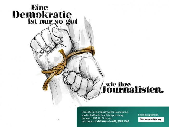 Für die neue »SZ«-Kampagne heuerte die Agentur Wunderhaus Illustrator Tomas Sadurski an