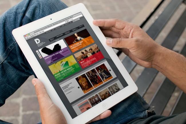 Deutsches Historisches Museum, Website iPad