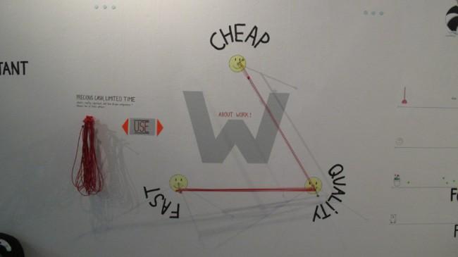 Detail einer Installation für die NGBK in Berlin