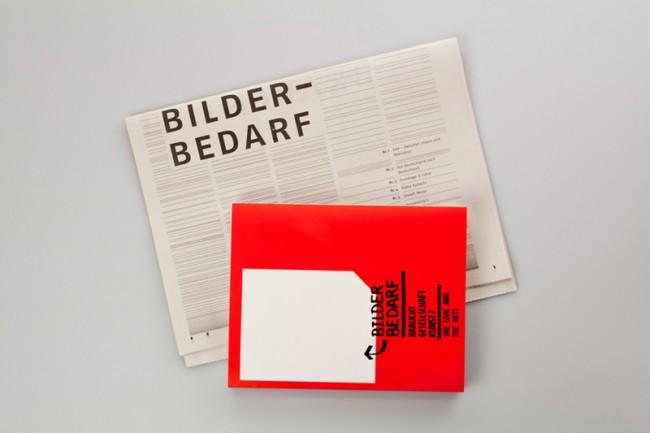 Zweiteiliger Assstellungskatalog »Bilderbedarf« für die Staatliche Kunsthalle Baden-Baden