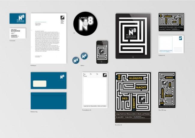 Das neue Corporate Design für die Lange Nacht der Wissenschaften in Berlin