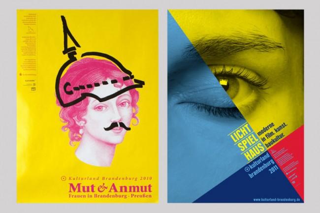 Plakate für die Themenjahre des Kulturland Brandenburg