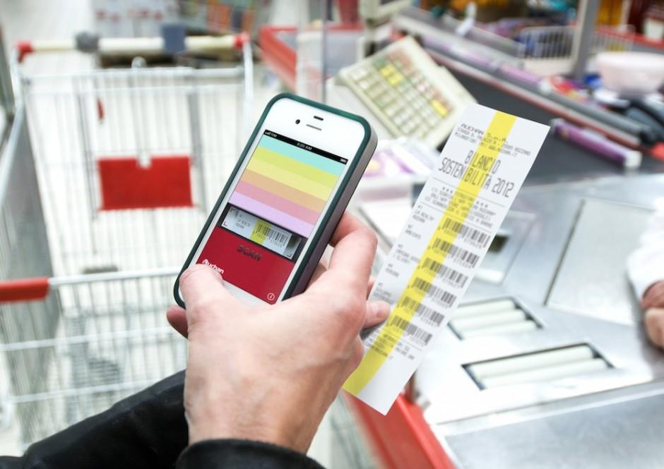 Selfscan-Nachhaltigkeitsbericht: Serviceplan für Auchan Italia