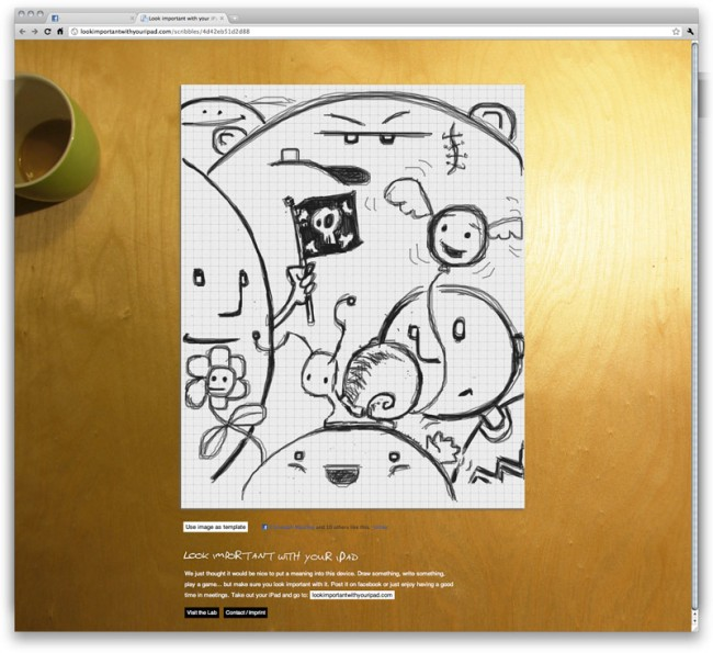 Lookimportantwithyouripad   Web-App, die das iPad zu einem Sketchbook macht