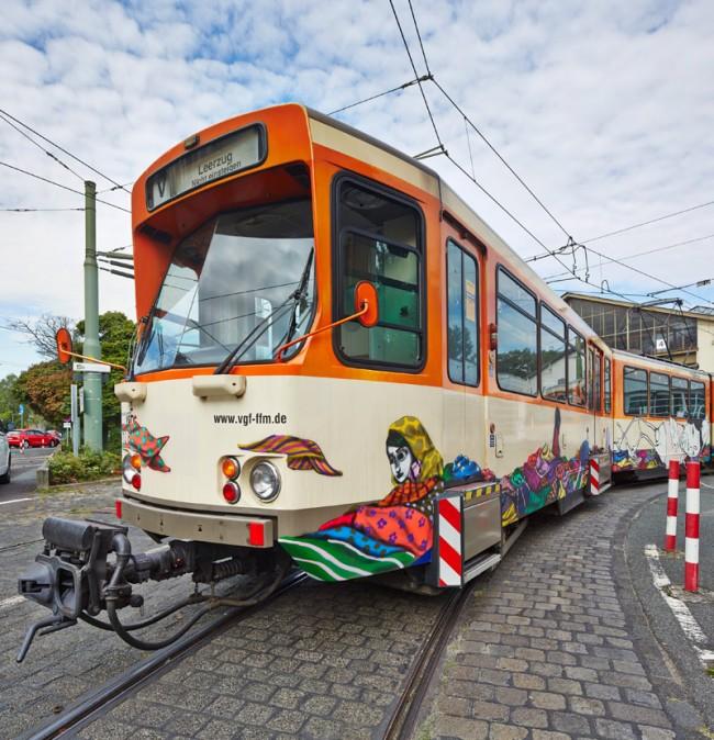 Onesto und Tinho Frankfurt am Main, 2013 U-Bahn-Zug der Linie U5 © Schirn Kunsthalle Frankfurt 2013, Foto: Norbert Miguletz