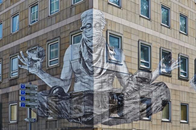 Alexandre Orion Frankfurt am Main, 2013 Gebäude der Sparkasse in der Junghofstraße 27 © Schirn Kunsthalle Frankfurt 2013, Foto: Norbert Miguletz