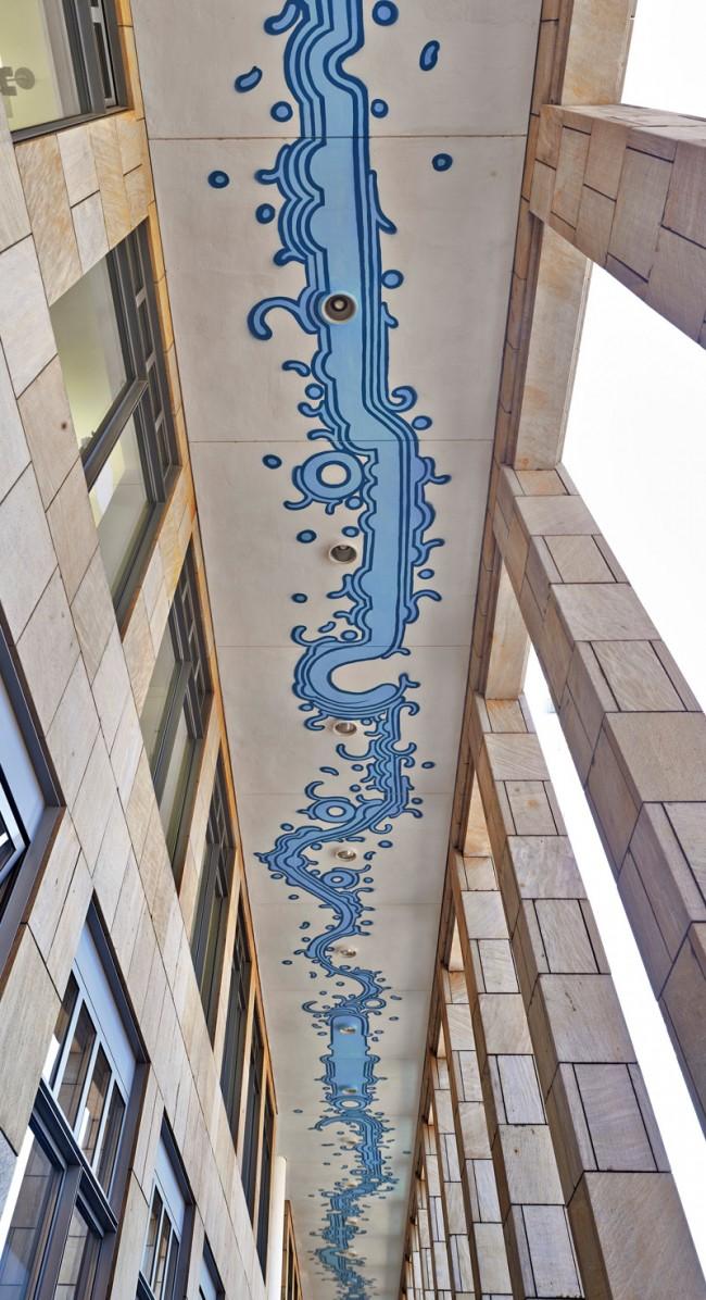 Zezão Frankfurt am Main, 2013 Schirn: Decke des östlichen Arkadengangs © Schirn Kunsthalle Frankfurt 2013, Foto: Norbert Miguletz
