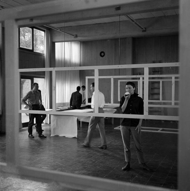 Alexandre Wollner, Montage der jährlichen Ausstellung, HfG Ulm, 1954