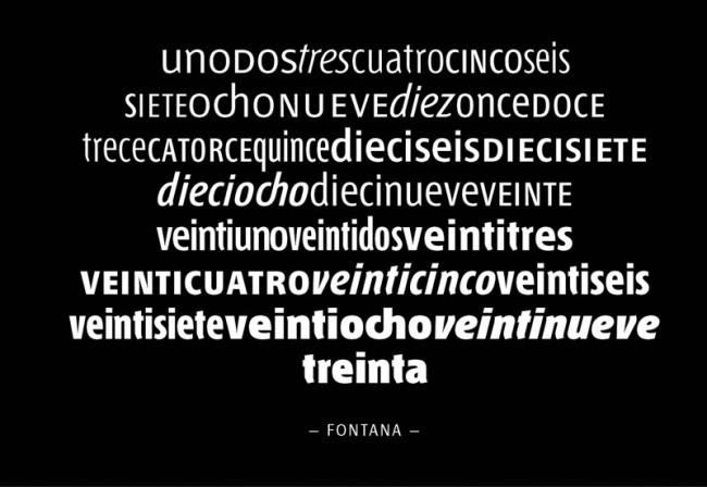 Der Grandseigneur des argentinischen Typedesigns: Rubén Fontana lehrt seit 1987 Typografie und Schriftgestaltung an der Universität von Buenos Aires. Seine harmonischen Schriften waren und sind Vorbild für die junge Generation von Typedesignern. Bemerkenswert sind jeweils die Alternativbuchstaben sowie die originellen Ligaturen von ch, qu und rr im Font Andralis, teilweise auch in der Chaco oder Fontana