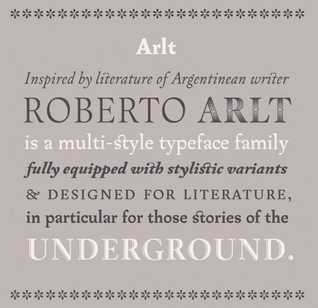PampaType-Betreiber Alejandro Lo Celso lässt sich in seinen Schriftentwürfen wie der Rayuela, Borges oder Arlt gern von literarischen Vorbildern inspirieren