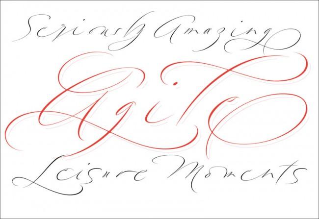 Moderne Schreibschriften wie Brand Live, Mon Amor eignen sich als Headlineschriften oder auch fürs Packaging