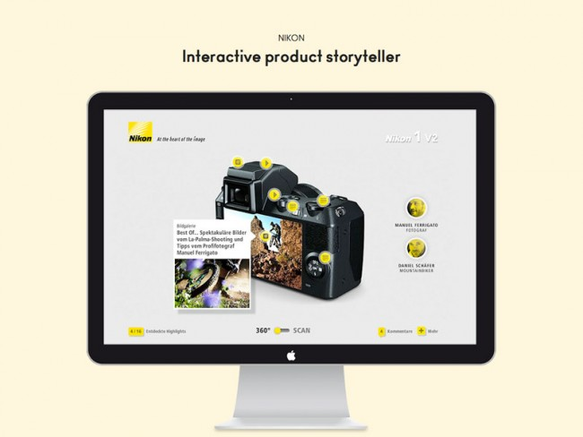 Nikon product story player