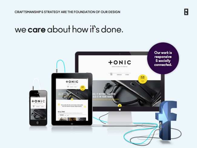 Tonic responsive website