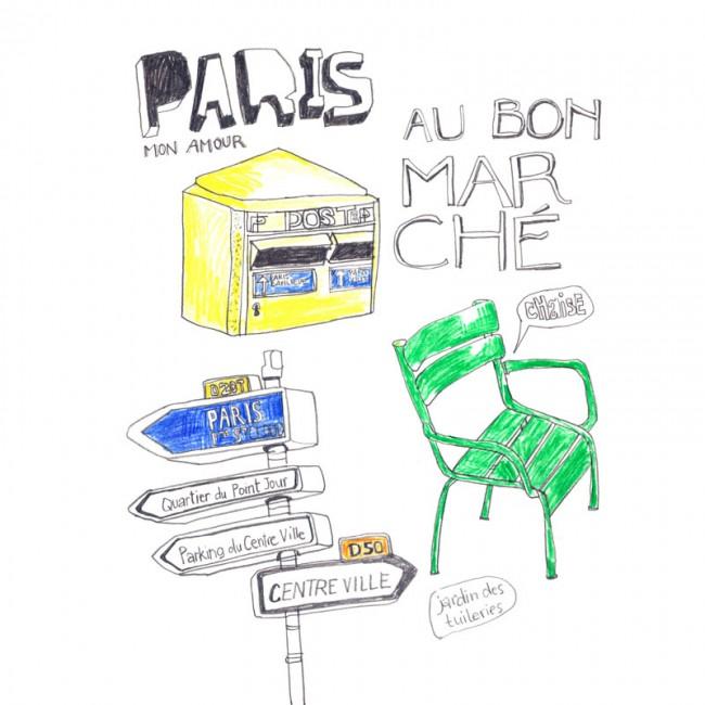 Skizzenbuch »Paris, mon amour«, 2011